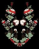 Fleurs et ornement courants de feuille patt oriental ou russe Image libre de droits
