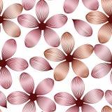 Fleurs et pétales roses élégants avec des veines modèle sans couture, vecteur illustration libre de droits