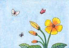 Fleurs et papillons (2011) Images libres de droits
