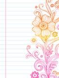 Fleurs et remous Images stock