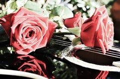 Fleurs et symboles de notes musicales Image libre de droits