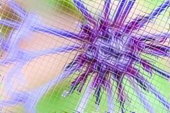Fleurs et verts dans le modèle de tuiles Image stock