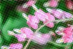 Fleurs et verts dans le modèle de tuiles Photos stock