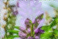 Fleurs et verts dans le modèle de tuiles Photo libre de droits