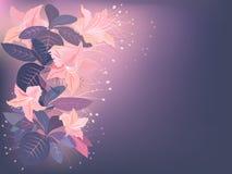 Fleurs exotiques roses illustration de vecteur