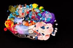 Fleurs fabriquées à la main artificielles Photographie stock