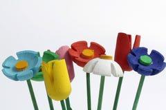 Fleurs faites de bois Photographie stock libre de droits