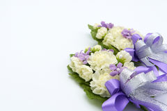 Fleurs faites main de jasmin faites à partir de fait main La signification est une représentation de l'amour de l'enfant, mais la Photographie stock