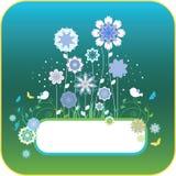 fleurs florales d'oiseaux de fond illustration de vecteur