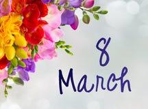 Fleurs fraîches de freesia Image libre de droits