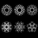 Fleurs géométriques d'astrologie d'étoile d'icône de modèle Photo libre de droits