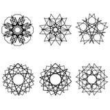 Fleurs géométriques d'astrologie d'étoile d'icône de modèle Image libre de droits