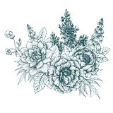 Fleurs gentilles de vecteur illustration de vecteur