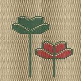 Fleurs graphiques abstraites de tricots Image libre de droits