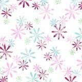 Fleurs graphiques sur le backg blanc Photos libres de droits