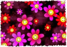 Fleurs grunges Photographie stock libre de droits