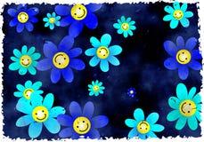 Fleurs grunges Image libre de droits