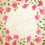 Fleurs grunges de vintage Images libres de droits