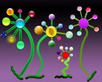 Fleurs heureuses de danse Photo libre de droits