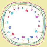Fleurs intérieures de coeur du monde illustration libre de droits