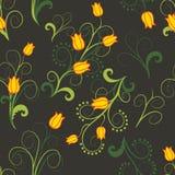 Fleurs jaunes abstraites Photo stock