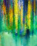 Fleurs jaunes abstraites de couleur Peinture d'aquarelle illustration de vecteur