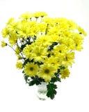 Fleurs jaunes dans un vase Images stock