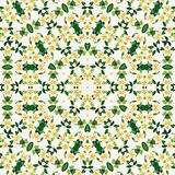 Fleurs jaunes de mandala de calibre abstrait de conception illustration stock