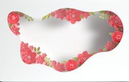 Fleurs ?l?gantes de papier et fond de papier de couches de trou Saint-Valentin, P?ques, le jour de m?re, ?pousant la carte de voe illustration de vecteur