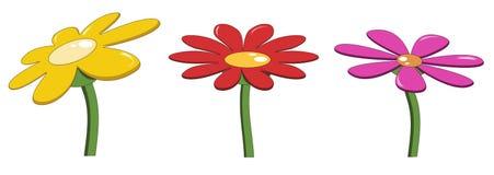 Fleurs lumineuses colorées illustration de vecteur