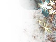 Fleurs lumineuses de fractale Photos stock