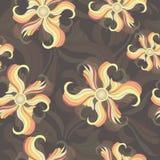 Fleurs multicolores abstraites, modèle sans couture Papier peint, emballage, conception de tissu, copie de textile, décoration Illustration Stock