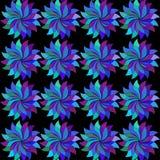 Fleurs multicolores avec des feuilles Fleur colorée abstraite illustration stock