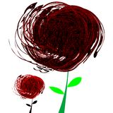 Fleurs noires et rouges abstraites Photo libre de droits