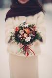 Fleurs nuptiales de bouquet Images libres de droits