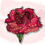 Fleurs, oeillets Illustration Stock