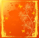 Fleurs oranges Image stock