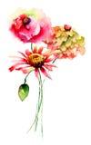 Fleurs originales d'été Photos libres de droits