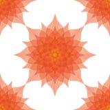 Fleurs originales de rouge de polygone Photo libre de droits