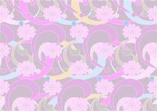 Fleurs pourprées sur un fond violet-clair. Backgr Photographie stock