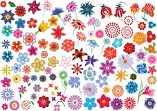 fleurs réglées Images stock
