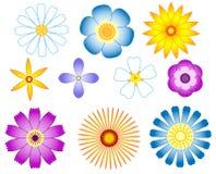 Fleurs réglées. Images stock