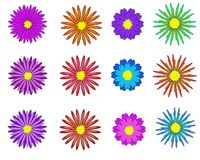 Fleurs réglées - fleurs d'illustration illustration stock