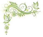 Fleurs, ressort, papillons Photographie stock libre de droits