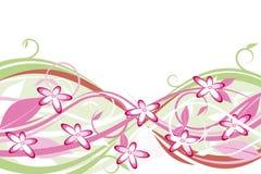 Fleurs : rose et vert Image libre de droits