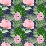 Fleurs roses d'été Photo libre de droits