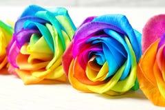 Fleurs roses d'arc-en-ciel étonnant sur la table Photo stock