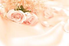 fleurs roses de bonbon pour le romance d'amour ou le fond de mariage Photo libre de droits