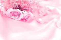 fleurs roses de bonbon pour le romance d'amour ou le fond de mariage Photo stock