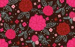 Fleurs roses et rouges sur un fond foncé illustration de vecteur